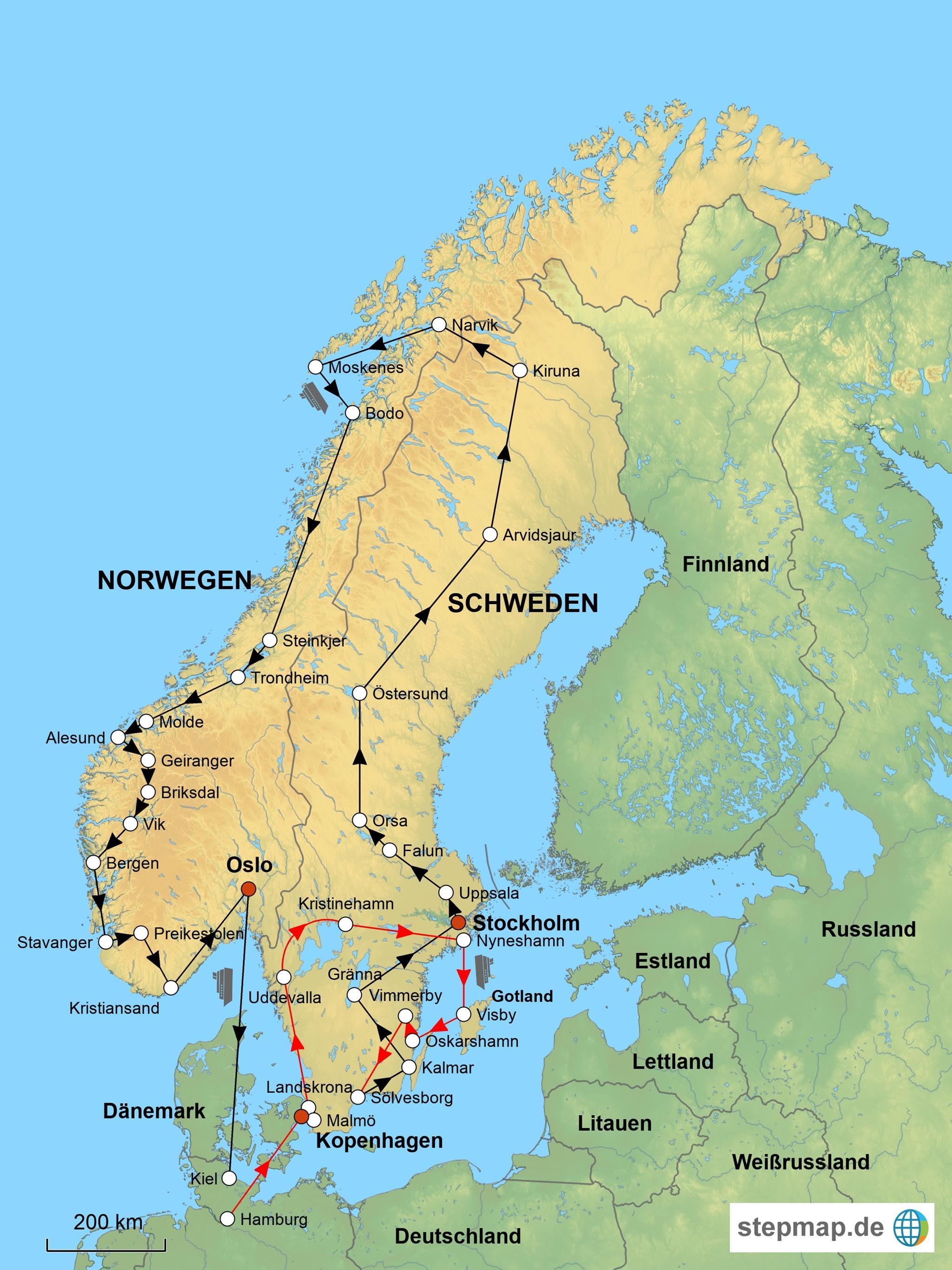 Karte Norwegen Schweden.Euratlas Periodis Web Karte Von Norwegen Schweden Im Jahre